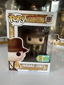 Funko Pop Vinyl Indiana Jones Rare SDCC 2016 Exclusive With Golden Idol