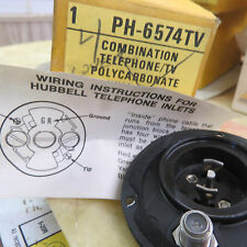 Hubbell PH-6574TV Combo Phone / TV hull Inlet - for pleasure craft, no screws
