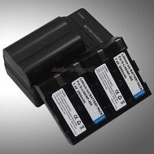 AC Charger +3x Battery for Pentax D-Li50 K10D K20D NP-400 Minolta Dynax 5D 7D A1