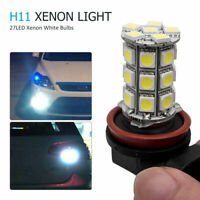 2xBright H11 H8 SMD LED Headlight Fog Daytime Running Light Bulb DRL White 6000K