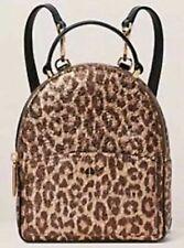 💚 Kate Spade Amelia Metallic Leopard Mini Convertible Backpack Purse Rose Gold