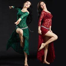 SF5116# Bauchtanz Kostüm Side Split Lace Kleid 6 Farben