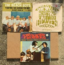 THE MONKEES - DONOVAN - THE BEACH BOYS Picture Sleeves NO VINYL