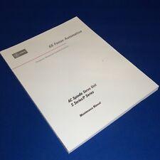 Fanuc Ac Spindle Servo Unit S Series/P Series Maintenance Manual Gfz-65015E/03