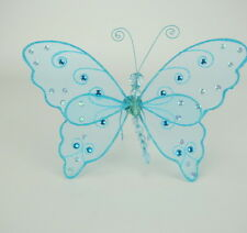 "Blue Sparkle Butterfly Wings for 18"" American Girl Doll Clothes Go Lovvbugg Save"