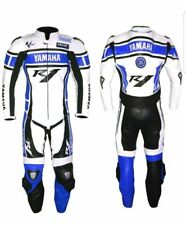 BLUE YAMAHA MOTORCYCLE LEATHER RACING SUIT-CE APPROVED PROTECTORS-MOTOGP