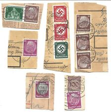 Germany - Six Different 1930's Registration Card Cuts With Stamps And Cancels b