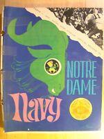 Notre Dame vs Navy September 1 1969  Football Game Program Magazine