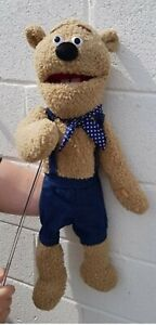 """bear puppet like Fozzy 26""""Ventriloquist,Educational.Moving mouth/arm"""