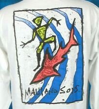 vintage 90s Maui & Sons Surf Shark L/S T-Shirt Xl cartoon beach skate hip hop