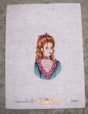 EP #164  Hand Painted HP 24ct Mono Needlepoint Canvas ~ Small Portrait of Girl
