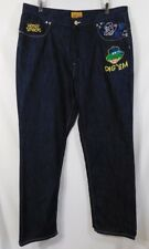 RARE Men's Under The Hood 42W X 34L HONEY SMACKS DIG 'EM Embroidered Dark Bl