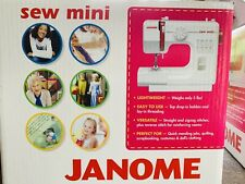 New! Janome Mini Sewing Machine White Sew Mini 630259187
