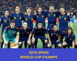 2010 SPAIN 8X10 TEAM PHOTO SOCCER PICTURE WORLD CUP CHAMPS