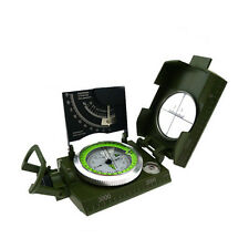 New Lensatic Compass Military Camping Hiking Liquid Filled Metal Outdoor Survive