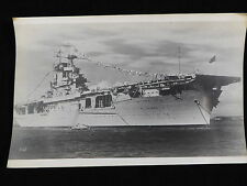 VINTAGE BLACK & WHITE PHOTOGRAPH OF USS WASP (CV-7)