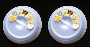 2 pack Microwave Food Cover Plate Vented Splatter Protector Kitchen Lid Safe NEW