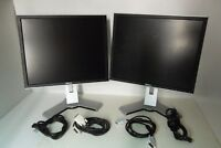 "LOT-2 Dell UltraSharp 1907FP 1908FP 19"" LCD Monitor w/4-Port USB Hub DVI VGA"