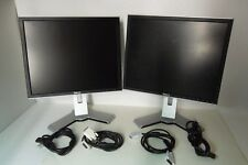 "LOT-2 Dell UltraSharp 19"" LCD Monitor w/4-Port USB Hub 1280x1024 DVI VGA 1908FP"