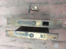 Antique Pair Pocket Sliding Door Mortise Lock w/ Key