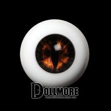 Dollmore BJD Doll Acrylic Eyes 26mm - OMeta Half Round Acrylic Eyes(Brown 06)