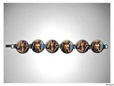 Jack Sparrow Johnny Depp Pirates of Caribbean 8 inch bracelet w/fold over clasp