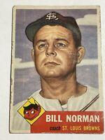1953 Topps #245 Bill Norman - St. Louis Browns