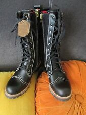 Woolrich Santa Fe Combat Boots Conductor Stripe NEW Womens Size 6 NWOB