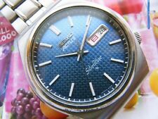 SEIKO Actus Silver Wave Blue pattern Dial Water Resistant 6306-8010 Overhauled