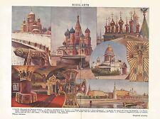 A6510 Arte Russa - Stampa Antica del 1930 - Cromolitografia