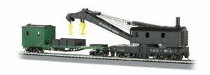 Bachmann 16122 HO Scale Chesapeake & Ohio 250-Ton Steam Crane & Boom Tender
