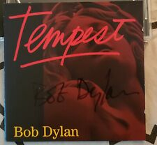 """*Signed* Bob Dylan """"Tempest"""" Cd - Deluxe Edition Rare! From Dylan Pop-Up Sto"""