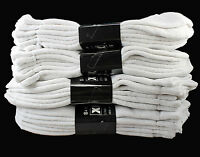 New 3-12 Pairs Ankle Quarter Crew Mens Socks Cotton White Sports Size 9-11 10-13