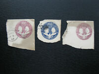 Antique Vintage 1492-1892 United States Embossed Postage Stamps - Lot of 3