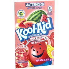Kool-Aid Watermelon Unsweetened Soft Drink Mix 0.14-Ounce Envelopes Pack of 12