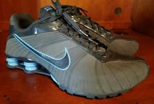 Men Nike SHOX Dark Gray/Blue Running Shoes Size US 10.5, UK 9.5 #325183-003