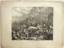 """Lithographie, ECOLE FRANCAISE, """" Siège de Saint-Jean-d'Acre, campagne d'Egypte"""""""