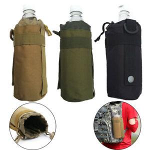 Hot Tactical Kettle Pouch Water Bottle Bag Carrier Holder belt Hiking Outdoor