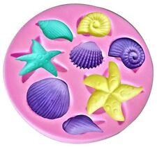 Seashells Assorted 8 Cavity Silicone Mold for Fondant Cake Decorating