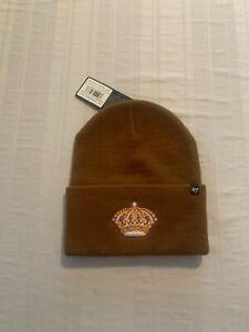 Los Angeles Kings NHL '47 Carhartt Mens Brown Cuff Knit Beanie Winter Hat New