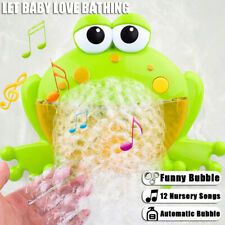 Baby Bubble Frog Crab Automatic Shower Machine Blower Maker Bath Music Toys