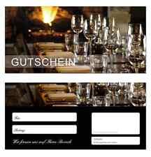 200 x Geschenkgutscheine (Gastro-657) TOP Gutscheine für Gastronomie Restaurant