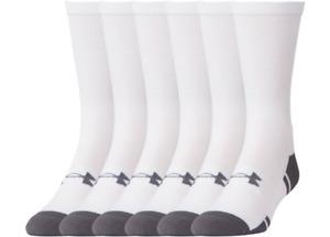 Under Armour U292 Men's UA Resistor III 3.0 Crew 6-Pack Athletic Socks 1282435