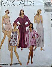 Vintage Sewing Pattern - 1990 S Vestaglia Camicia da notte Negligee CANOTTIERA PANTALONCINI