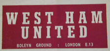 Home Teams S-Z West Ham United Football Programmes