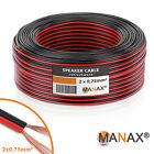 50m 2x0,75mm² Cavo altoparlante (5x 10m) nero rosso flessibile Metri marcatura