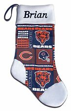 Personalized NFL Chicago Bears Football Christmas Stocking Embroidered