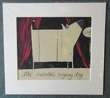 Angela Smyth, Incredible Singing Dog - Signed Mounted Limited Edition Print