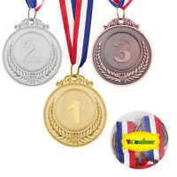 TOYANDONA 3er Medaillenset Kinder Medaillen Sport Turnier Pokal Preis mit Band ❤