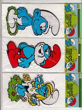 3 Schlumpf Knibbelbilder zusammen MAXI smurf puffy stickers Mundi Paper MiB OVP
